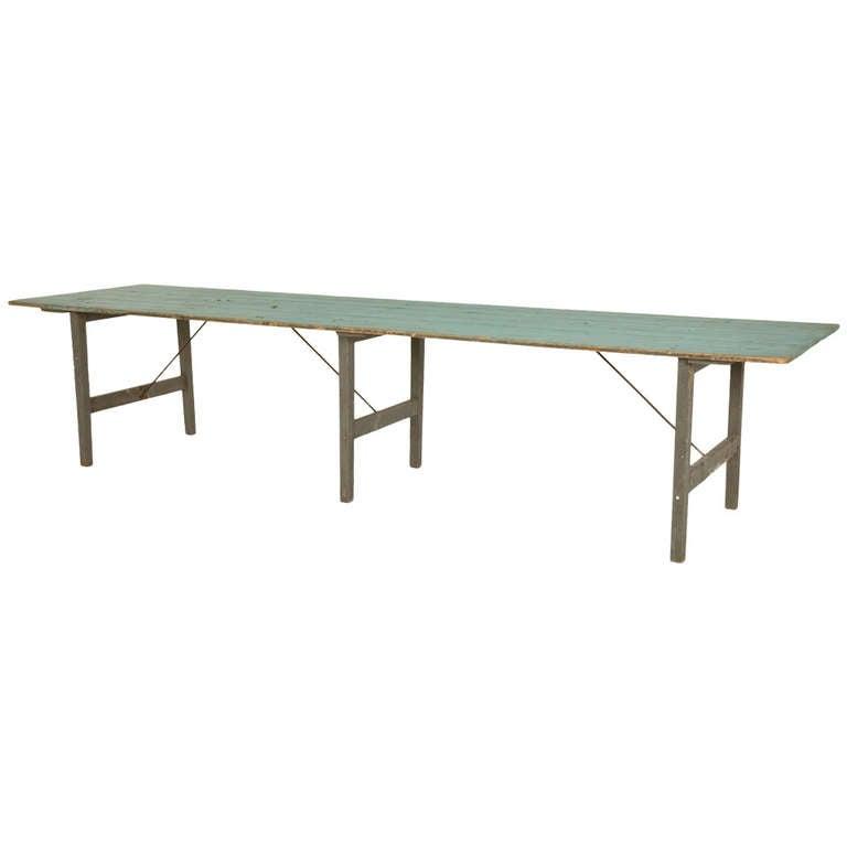 Vintage Folding Table : Antique Folding Harvest Table at 1stdibs