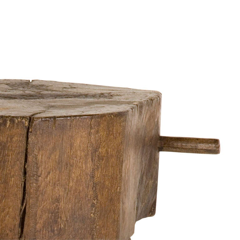 Antique wood butcher block table at stdibs