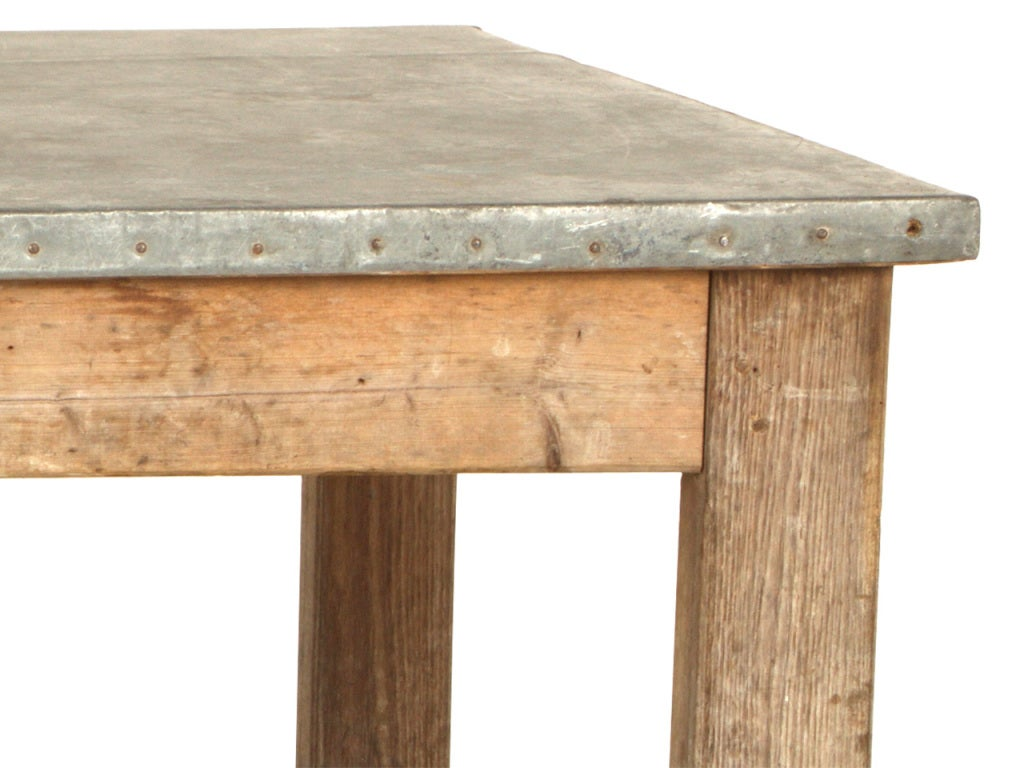antique zinc top work table at 1stdibs