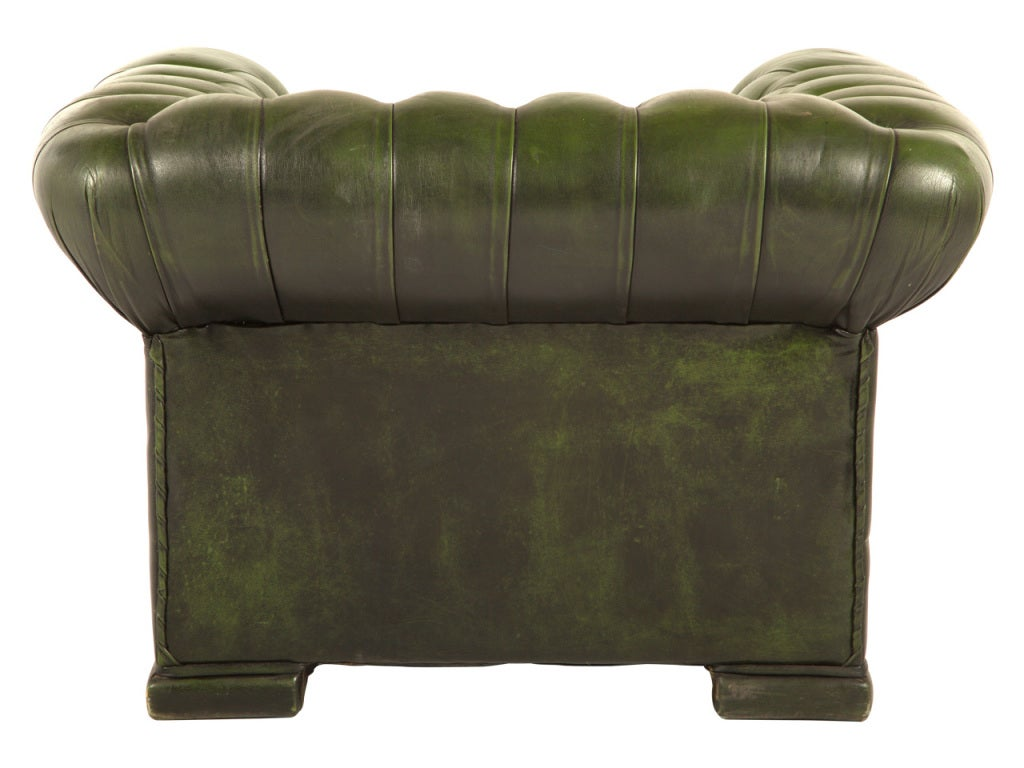 green chesterfield armchair vintage green chesterfield