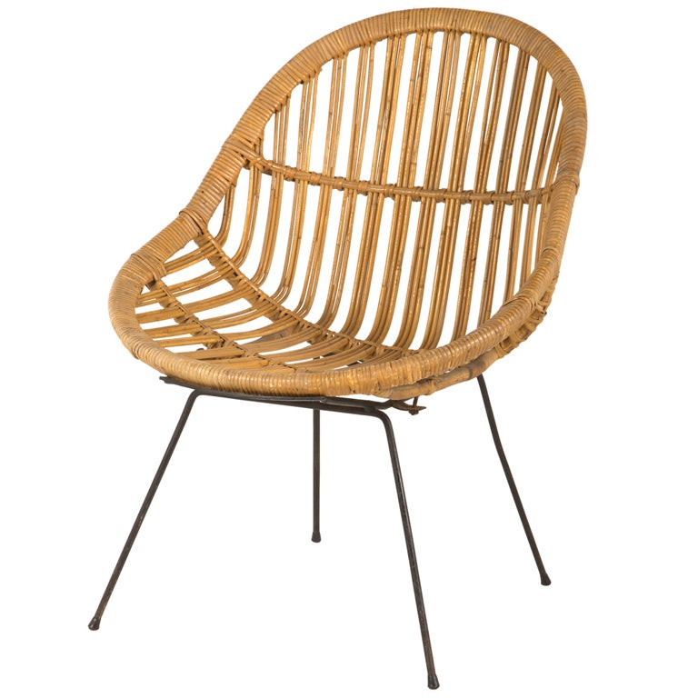 vintage rattan chair at 1stdibs. Black Bedroom Furniture Sets. Home Design Ideas