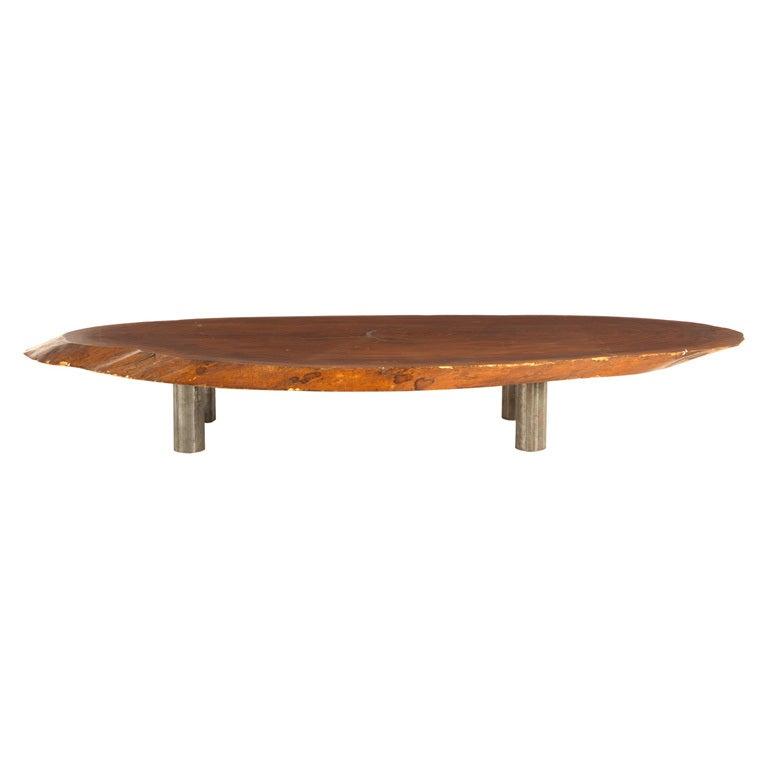 Vintage Burl Wood Slab Coffee Table At 1stdibs: Vintage Wood Slab Coffee Table At 1stdibs