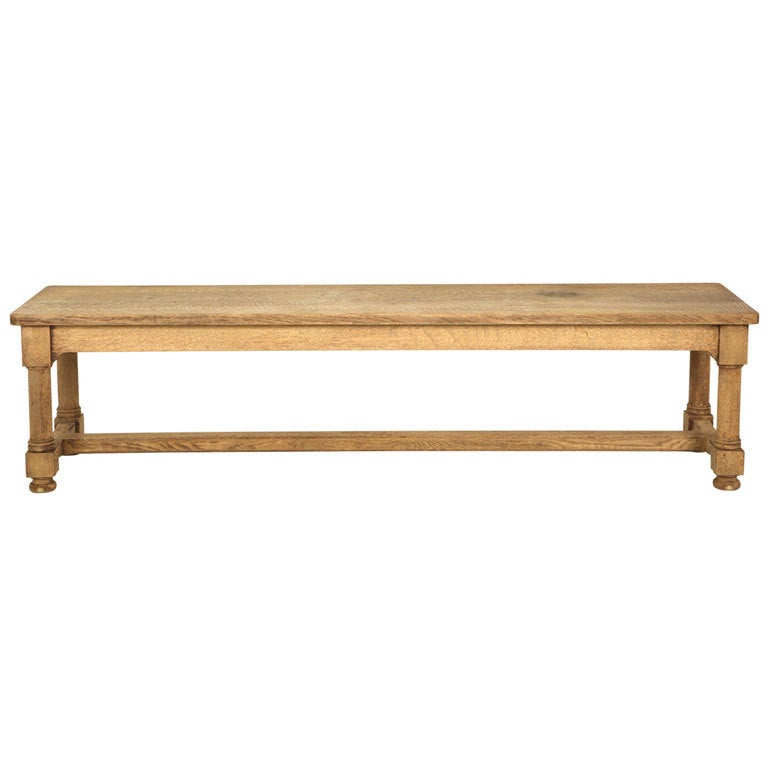Antique Oak Bench At 1stdibs