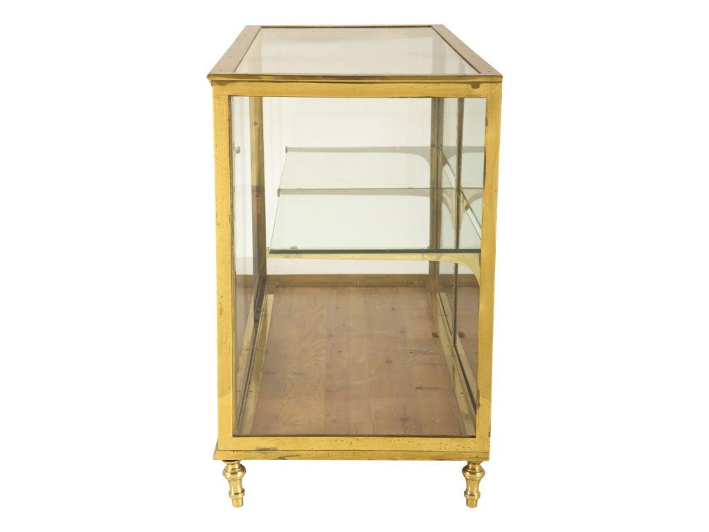 vintage brass vitrine at 1stdibs. Black Bedroom Furniture Sets. Home Design Ideas