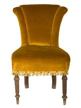 Antique Velvet Side Chair image 2
