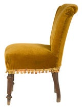 Antique Velvet Side Chair image 3