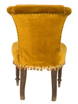 Antique Velvet Side Chair image 4