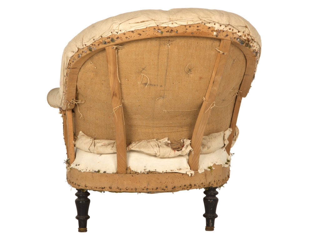 Antique unupholstered chaise longue at 1stdibs for Antique chaise longe