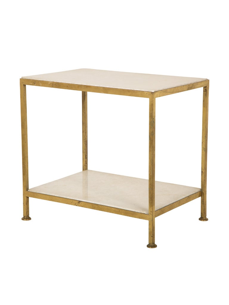 Vintage brass and marble side table at 1stdibs for 12 end table