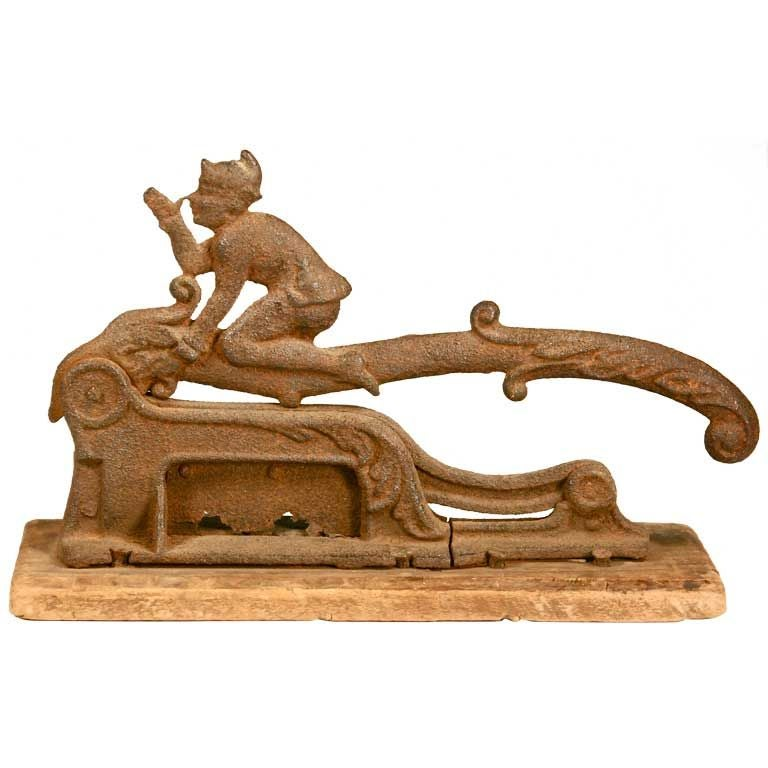 Vintage cast iron cigar cutter articulated slicer at stdibs