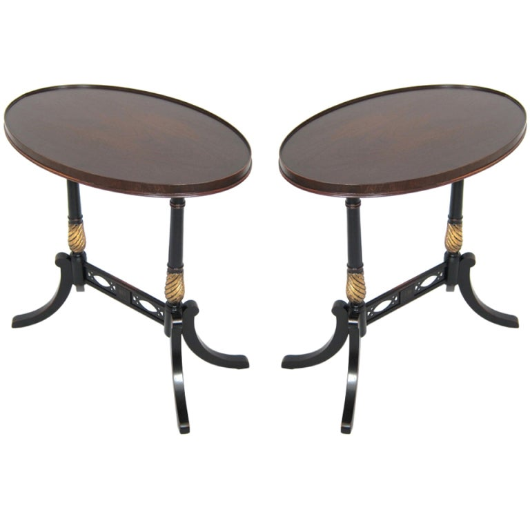 Pair of 1940s Wooden Oval Side Tables at 1stdibs : XXXOVALSIDETABLESA from www.1stdibs.com size 768 x 768 jpeg 34kB