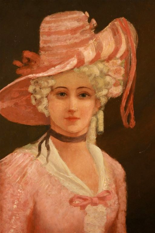 English Lady in Pink, painting/picture