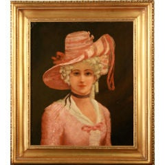 Lady in Pink, painting/picture