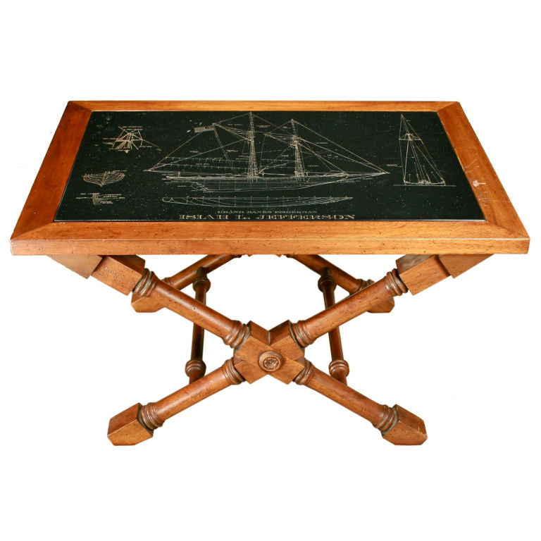 American Slate Topped Nautical Table At 1stdibs