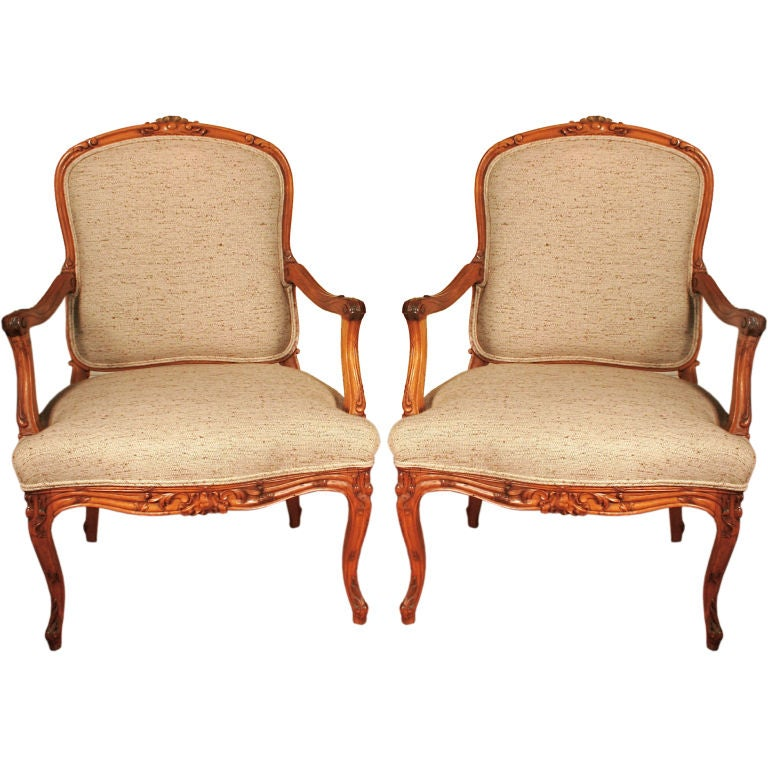 Pair of louis xvi style armchairs at 1stdibs for Outdoor furniture quad cities