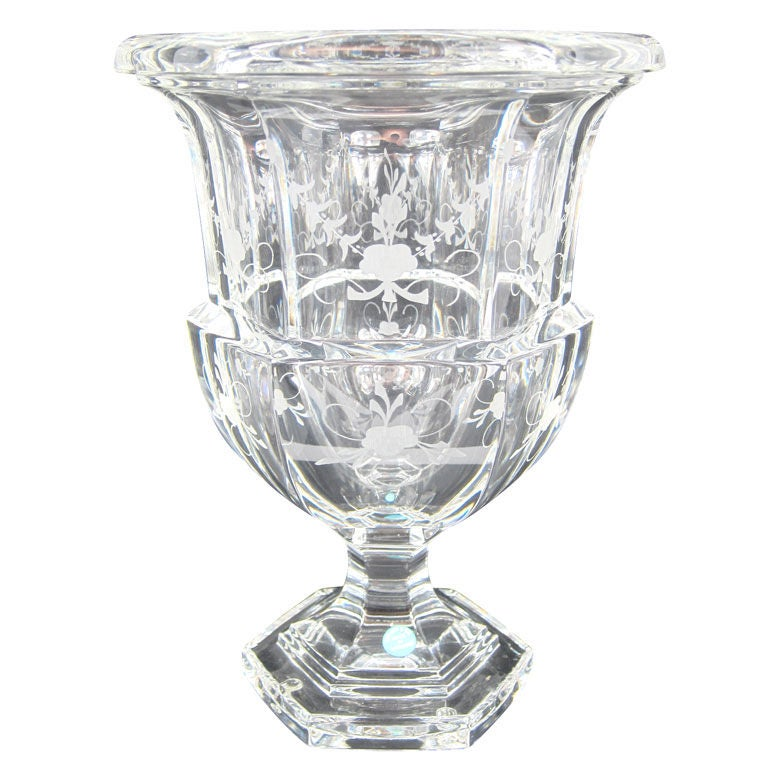 Tiffany And Co Crystal Glass Vase Made In Germany At 1stdibs