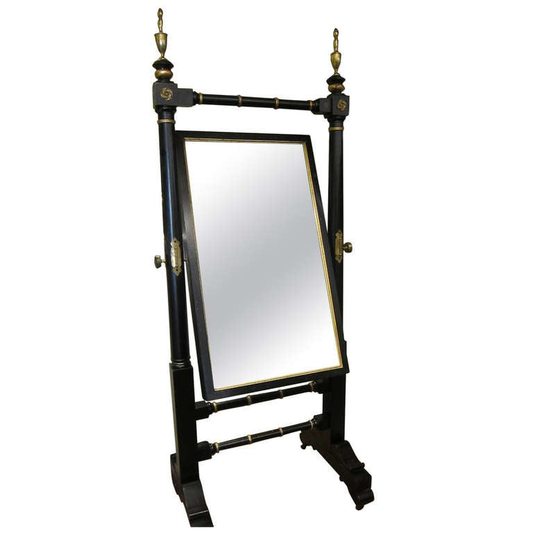 Empire black and gold huge double sided partners dressing for Black floor length mirror