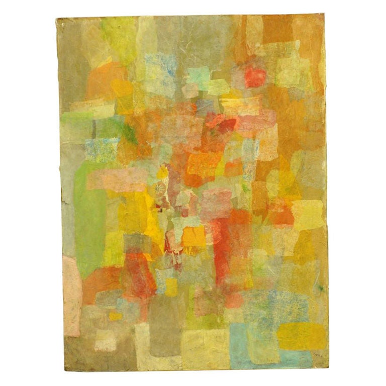 Abstract In Decoupage Ripped Tissue Paper By Carmine