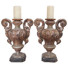 Pair of 19th Century Italian Candlesticks