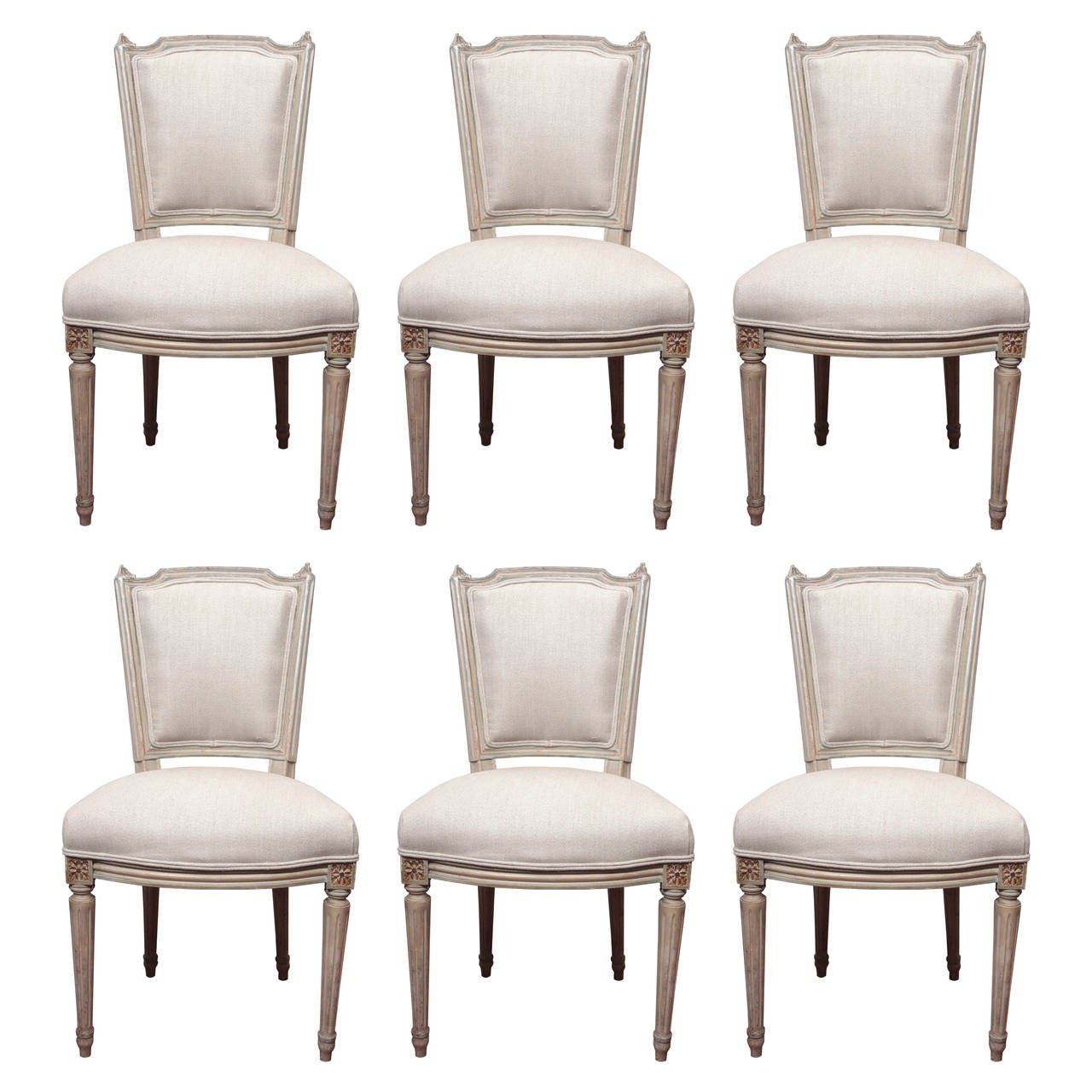Set Of Six Louis XVI Dining Room Chairs At 1stdibs