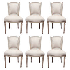 Set of Six Louis XVI Dining Room Chairs