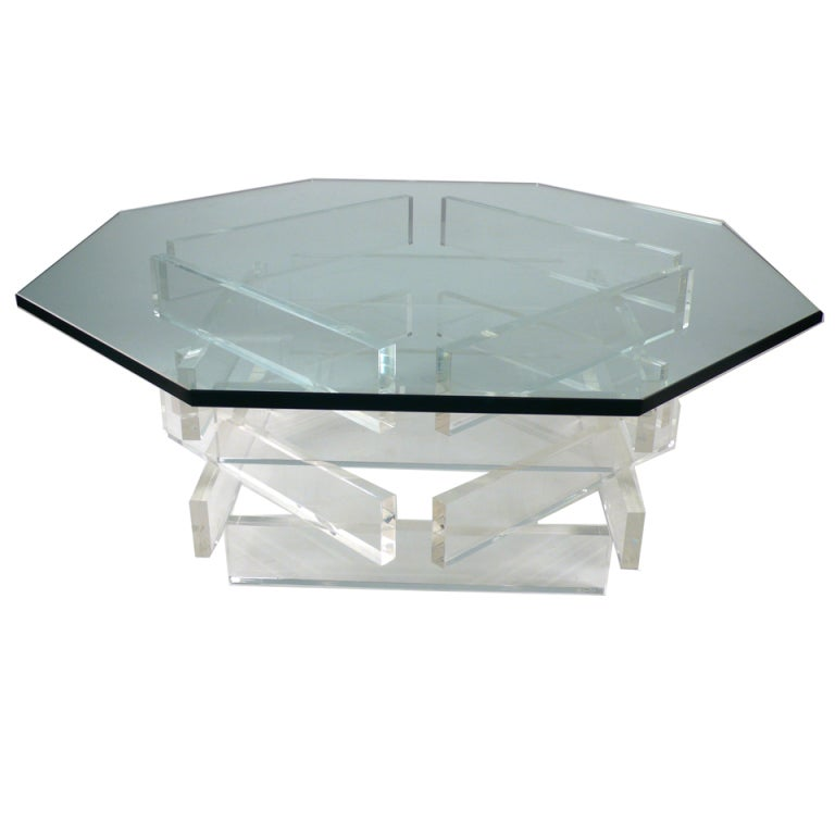 Stacked Acrylic Cocktail Table At 1stdibs