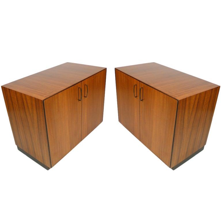Custom Zebrawood Paul Mccobb Cabinets At 1stdibs