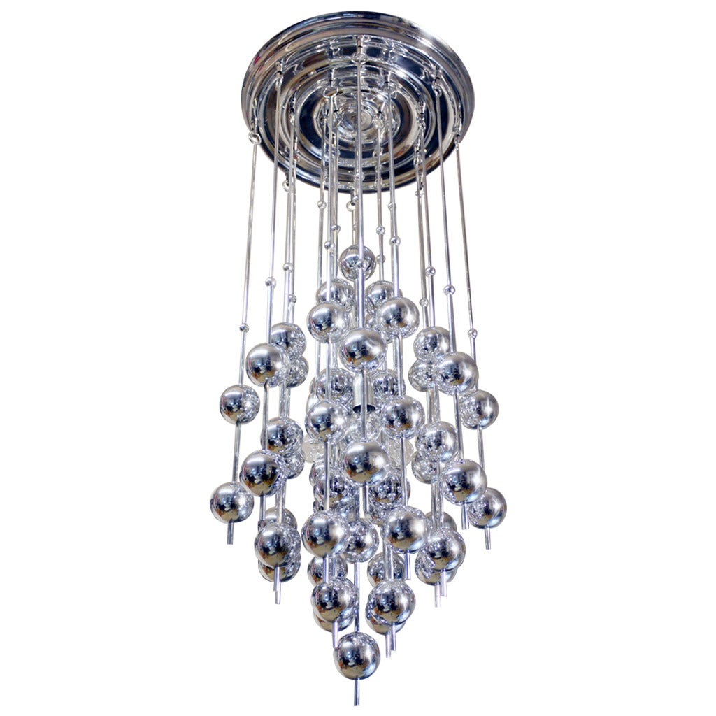 Verner Panton Metallic Ball Chandelier For Sale at 1stdibs – Ball Chandelier