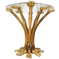 Early and Rare Pedro Friedeberg Hand Foot Table