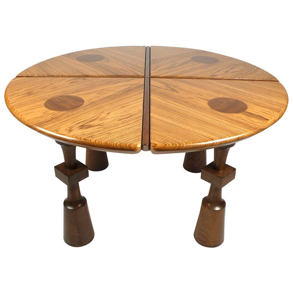 California Craftsman Exotic Wood Game Table