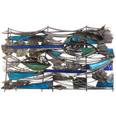 Aquatic Themed Del Campo Wall Sculpture