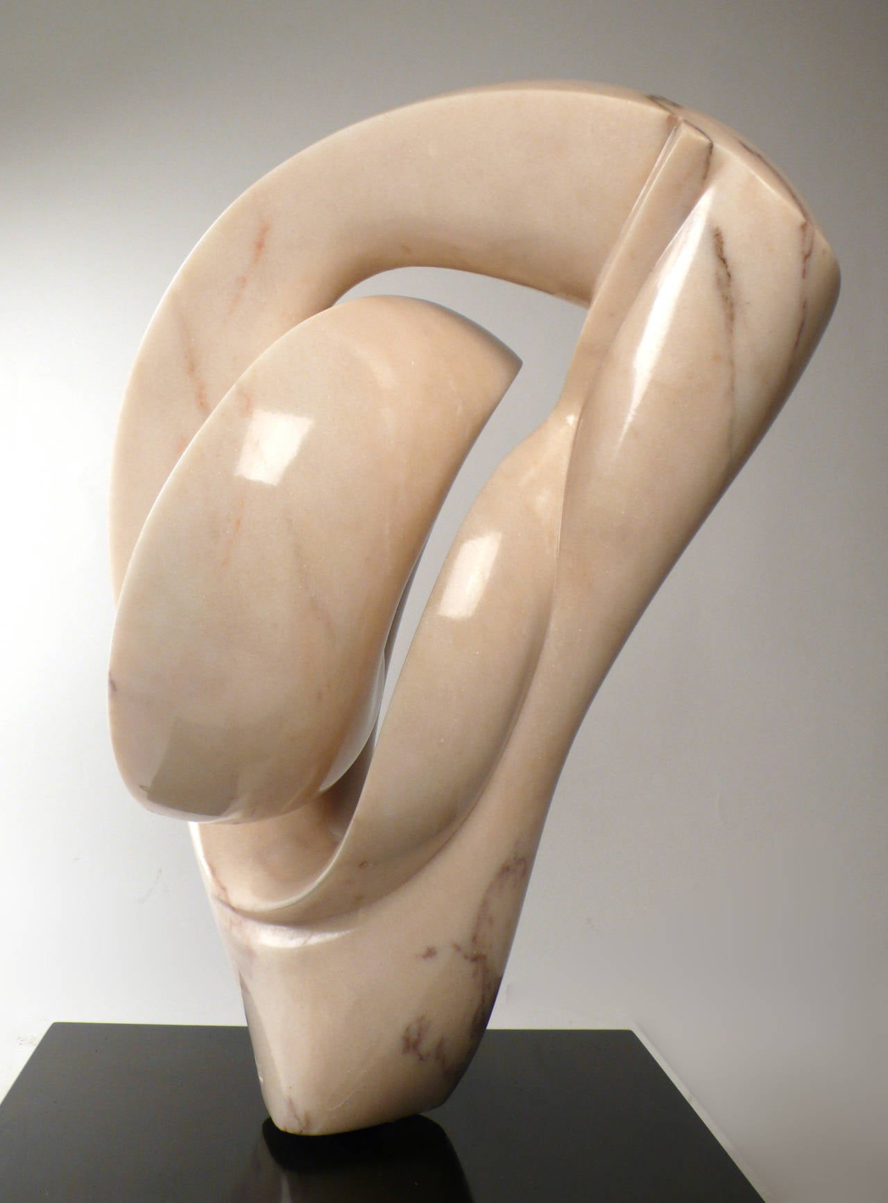 Polished Abstract Marble Sculpture  For Sale