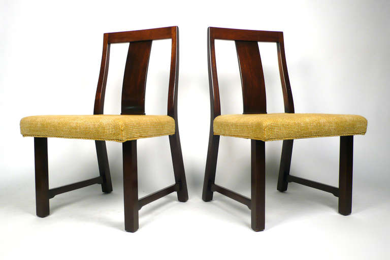 Set of four dining side chairs designed by Edward Wormley for Dunbar, model No. 294W.