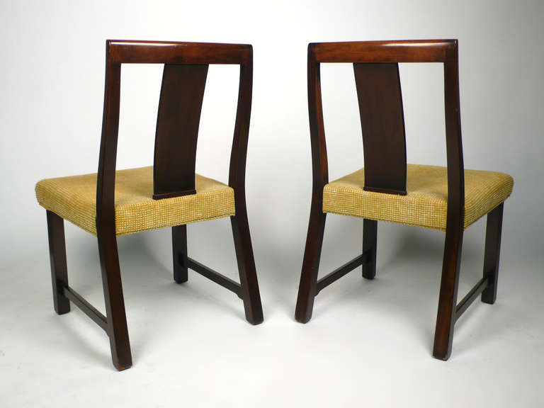 Mid-Century Modern 4 Dunbar Dining Chairs by Edward Wormley For Sale