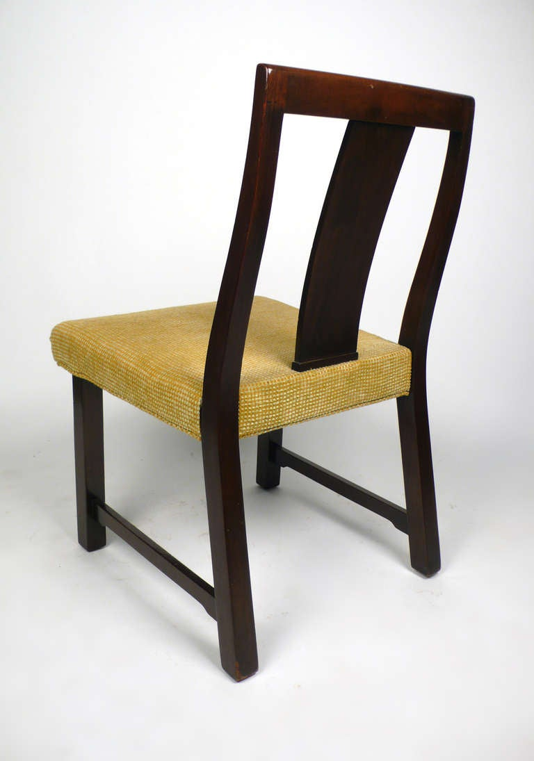4 Dunbar Dining Chairs by Edward Wormley In Good Condition For Sale In Dallas, TX