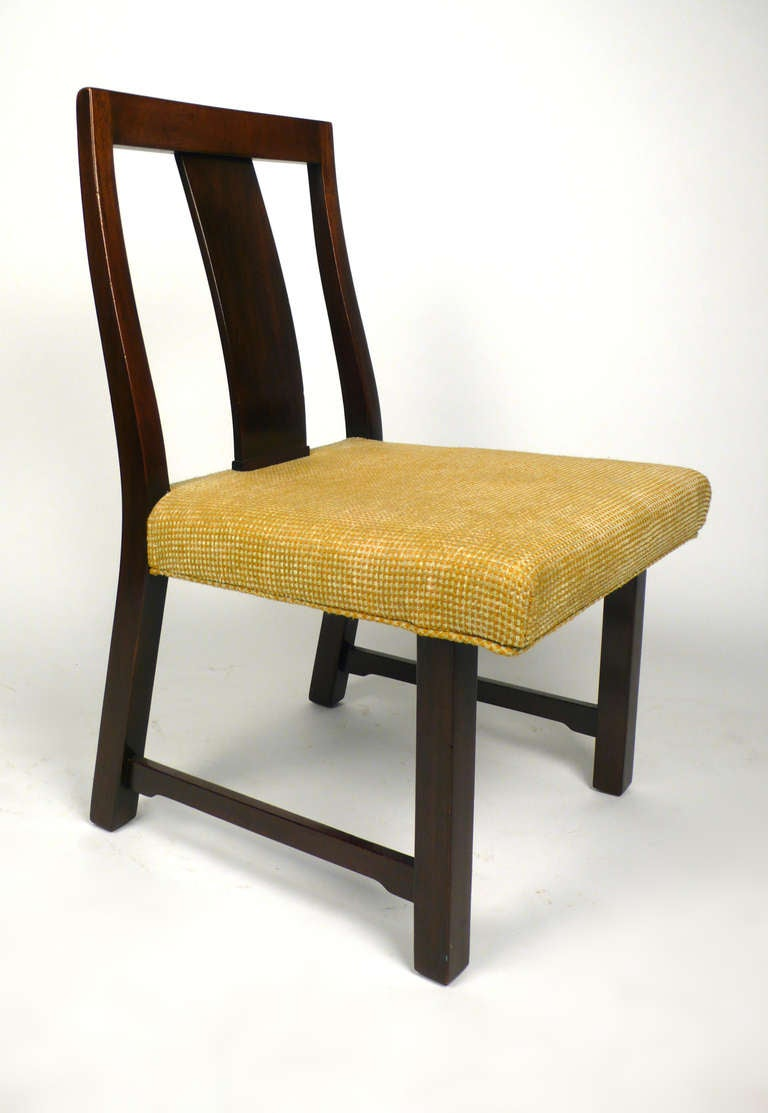 Mid-20th Century 4 Dunbar Dining Chairs by Edward Wormley For Sale