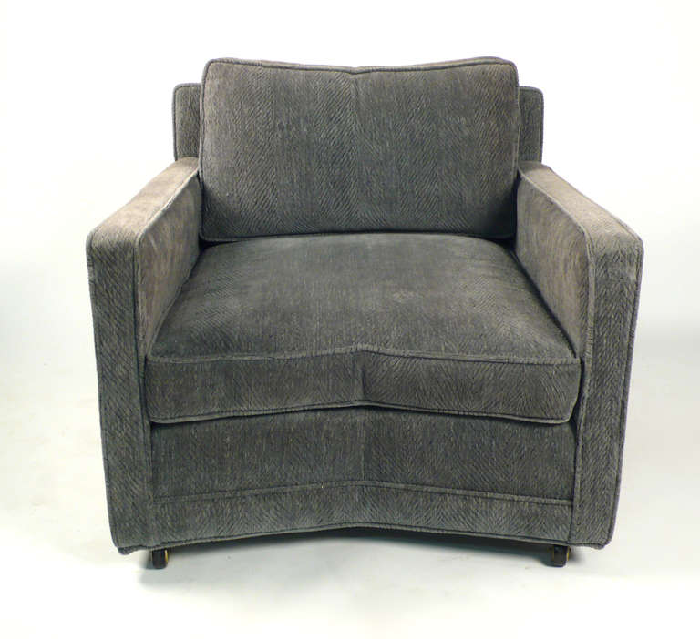 Unique design club chairs designed by Harvey Probber. Two pairs available, priced per pair.
