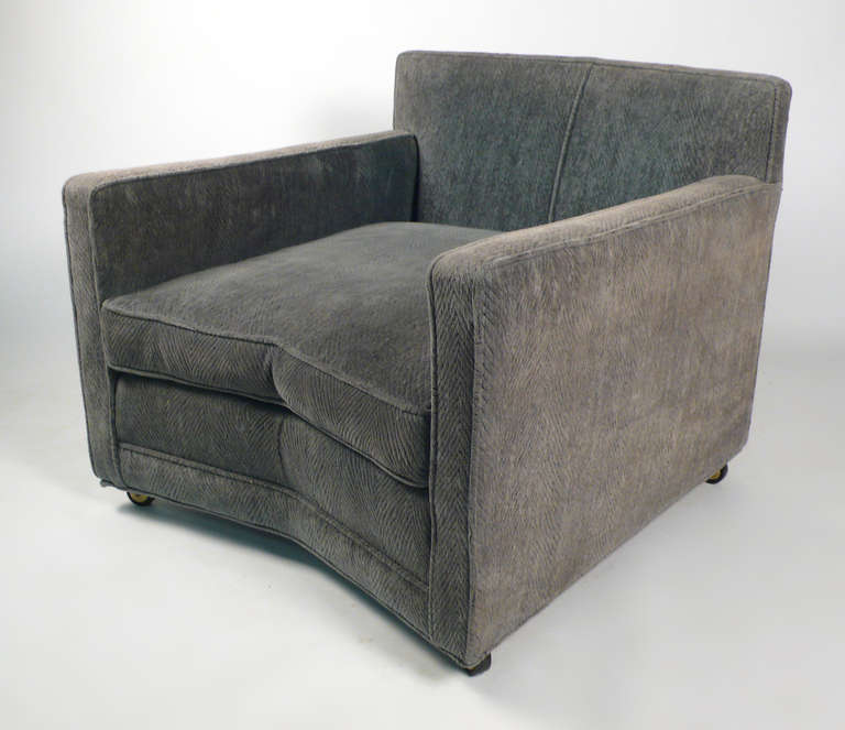 Mid-Century Modern  Club Chairs by Harvey Probber For Sale