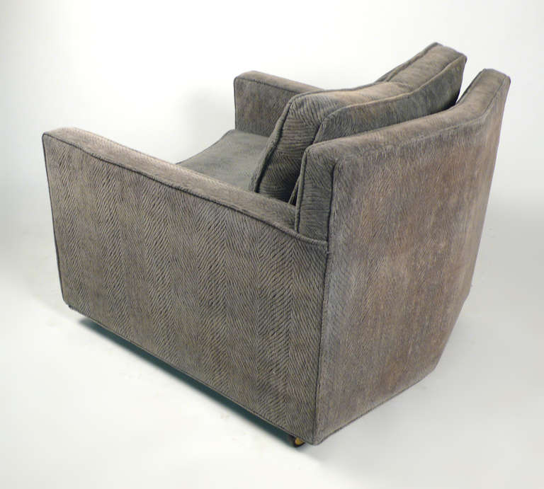 Textile  Club Chairs by Harvey Probber For Sale