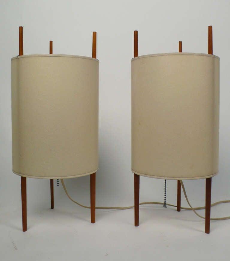 Pair of Cylinder Lamps by Isamu Noguchi at 1stdibs