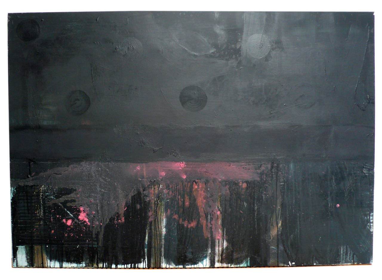 Abstract oil painting on Linen by New York artist Ryan Franklin titled 'Qellipot'