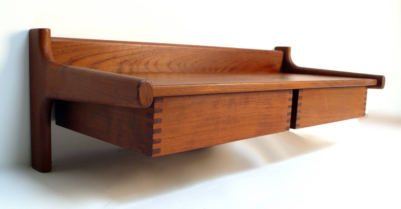 20th Century Wall Mount Nightstands by Borge Mogensen For Sale