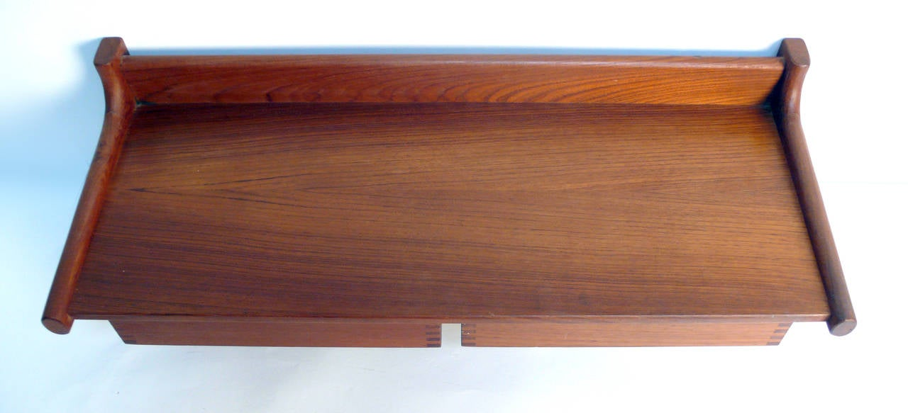 Mid-Century Modern Wall Mount Nightstands by Borge Mogensen For Sale
