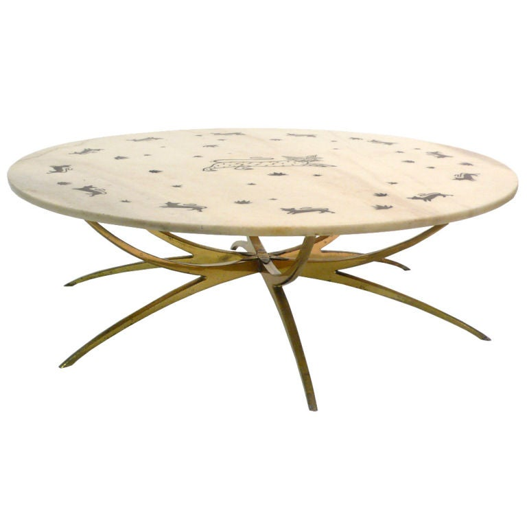 Italian Kitty Cat Table At 1stdibs