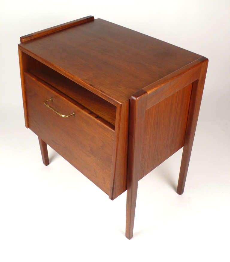 side table storage by jens risom at 1stdibs. Black Bedroom Furniture Sets. Home Design Ideas