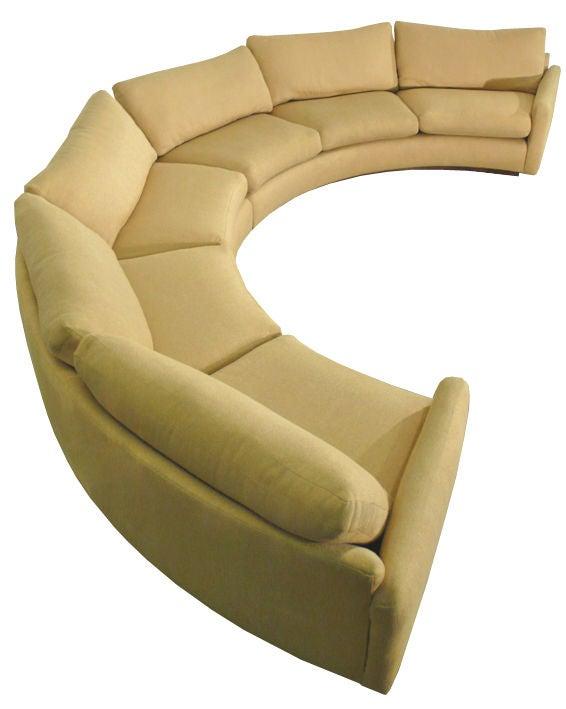Monumental Milo Baughman Semi Circular Sectional Sofa Image 2