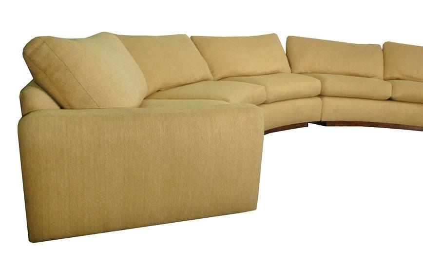 Monumental Milo Baughman Semi Circular Sectional Sofa Image 3