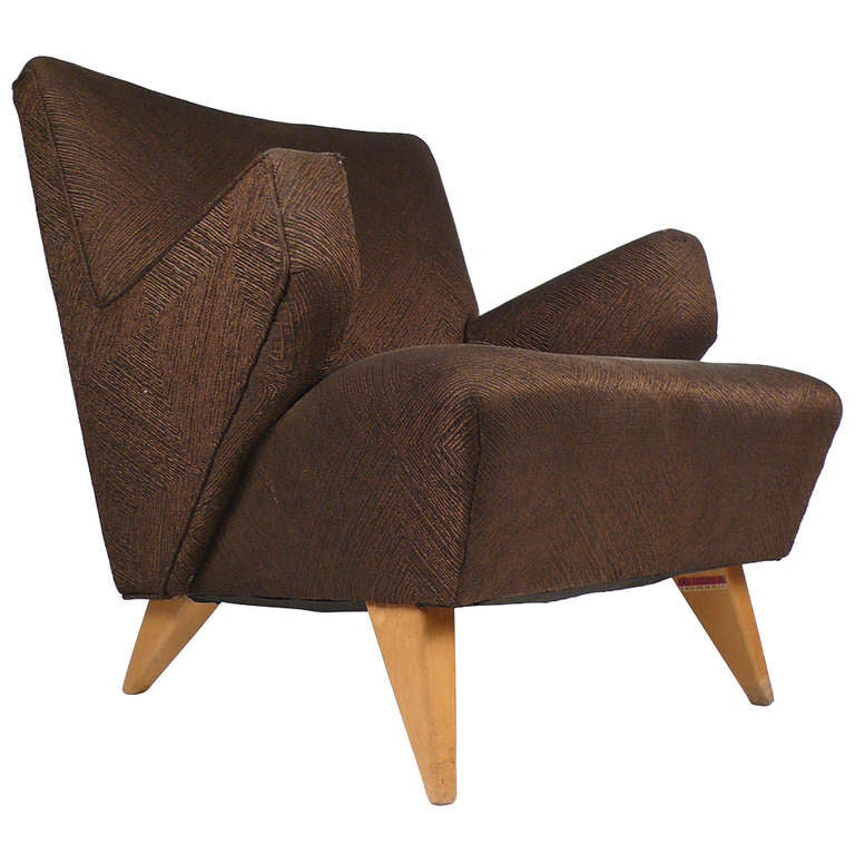 Early Lounge Chair by Jens Risom For Sale at 1stdibs