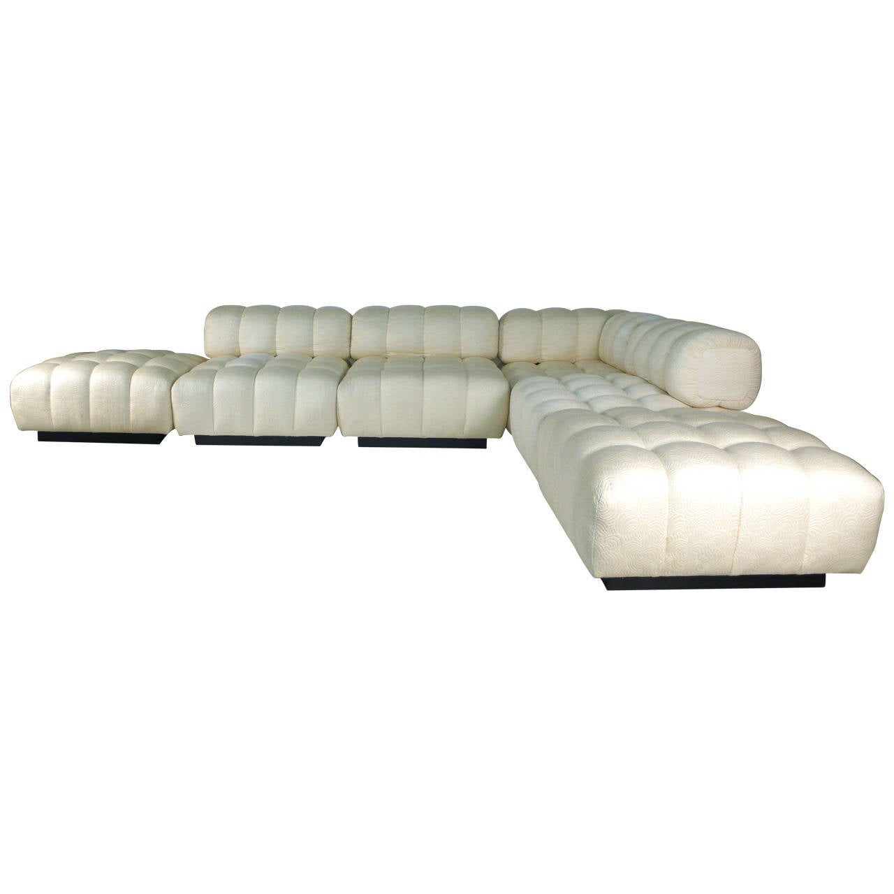 Modular Deep Tuft Sectional Sofa Attributed To Harvey