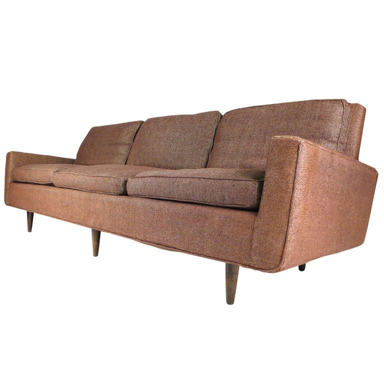 Early Florence Knoll Down Filled Sofa For Sale At 1stdibs